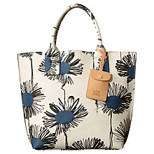 Buy Orla Kiely Tillie Textured Leather Grab Bag, Indigo Online at johnlewis.com