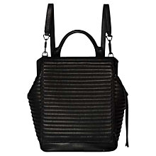 Buy Calvin Klein Esther Leather Backpack Black Online at johnlewis.com