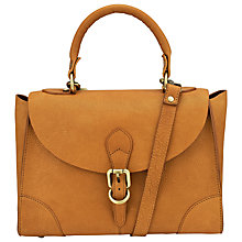 Buy John Lewis Top Handle Small Leather Grab Bag, Tan Online at johnlewis.com
