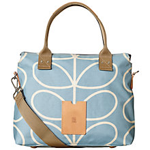 Buy Orla Kiely Etc Giant Linear Stem Zip Weekend Bag, Sky Blue Online at johnlewis.com