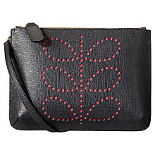 Buy Orla Kiely Exclus Forget Me Not Leather Across Body Bag , Slate Online at johnlewis.com