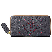 Buy Orla Kiely Textured Leather Wallet, Slate Online at johnlewis.com