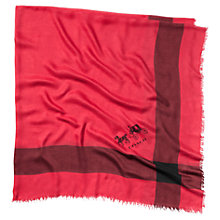 Buy Coach Windowpane Challis Scarf, Red Online at johnlewis.com