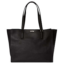 Buy Calvin Klein Kate Leather Tote Bag, Black Online at johnlewis.com