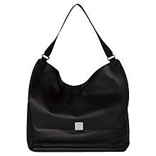 Buy Calvin Klein Kate Large Leather Shoulder Bag, Black Online at johnlewis.com