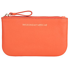 Buy COLLECTION by John Lewis Hayley 'The Economy Needs Me' Slogan Leather Coin Purse, Orange Online at johnlewis.com
