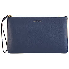 Buy COLLECTION by John Lewis Hayley 'Good As Gold' Slogan Leather Pouch Purse, Navy Online at johnlewis.com