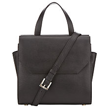Buy Kin by John Lewis Loren Mini Pocket Leather Grab Bag, Black Snake Online at johnlewis.com