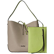 Buy Calvin Klein Stef Shopper Bag, Cream Online at johnlewis.com