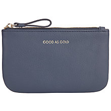 Buy COLLECTION by John Lewis Hayley 'Good As Gold' Slogan Leather Coin Purse, Navy Online at johnlewis.com