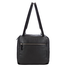 Buy Kin by John Lewis Carson Leather Shoulder Bag, Black Online at johnlewis.com