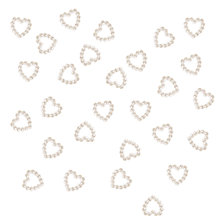 Buy John Lewis Acrylic Pearl Hearts, Pack of 100, Cream Online at johnlewis.com