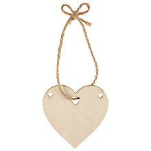 Buy John Lewis Wooden Heart Bunting, Pack of 10, Brown Online at johnlewis.com