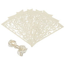 Buy John Lewis Cut Out Bunting, Pack of 8, Cream Online at johnlewis.com