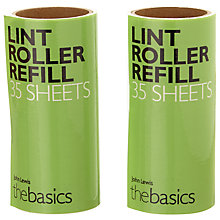 Buy John Lewis Lint Roller Refills, Pack of 2 Online at johnlewis.com