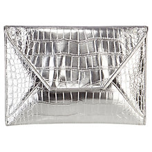 Buy Coast Snake Envelope Clutch Bag, Silver Online at johnlewis.com
