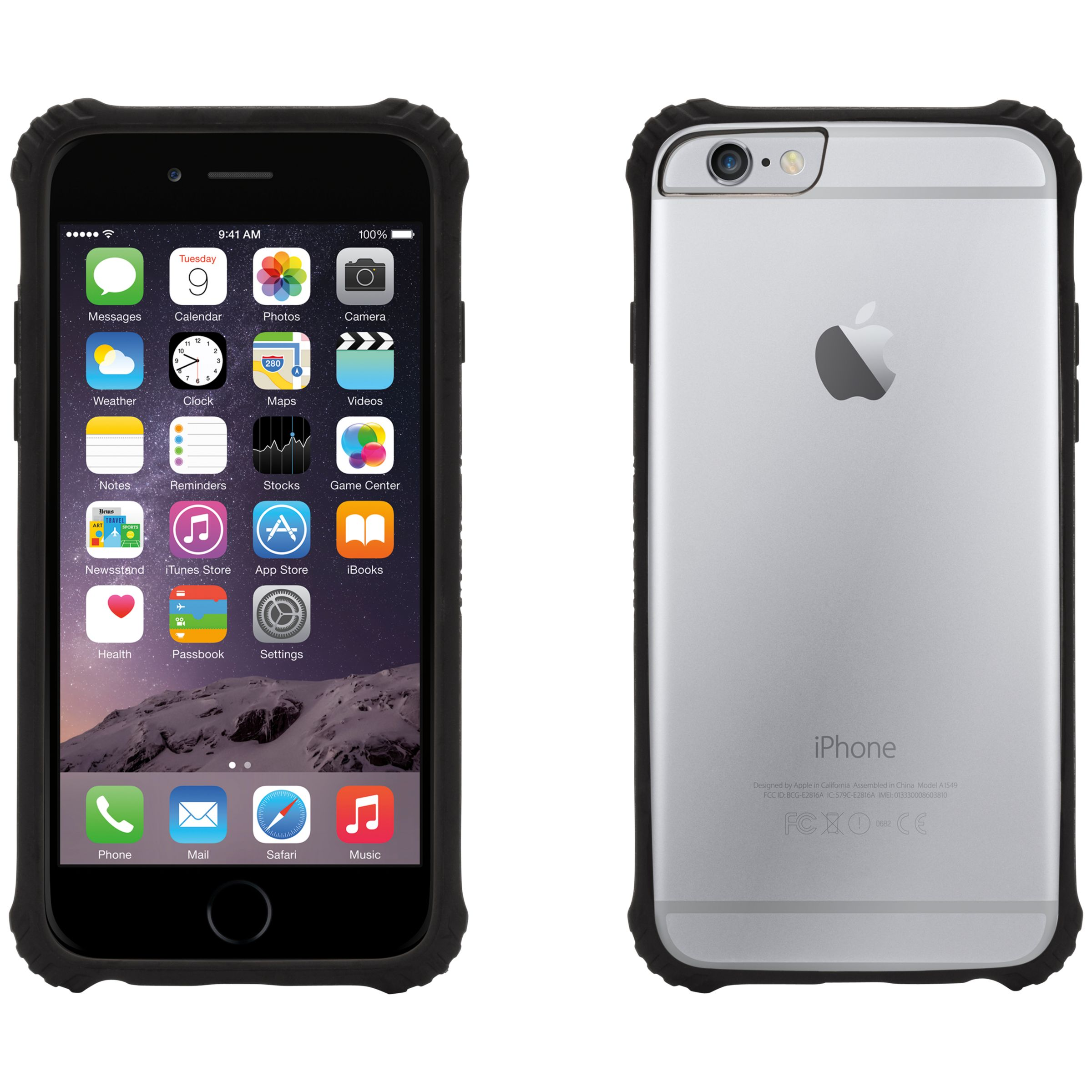 Griffin Griffin Survivor Core Case for iPhone 6, Clear back with black bumper