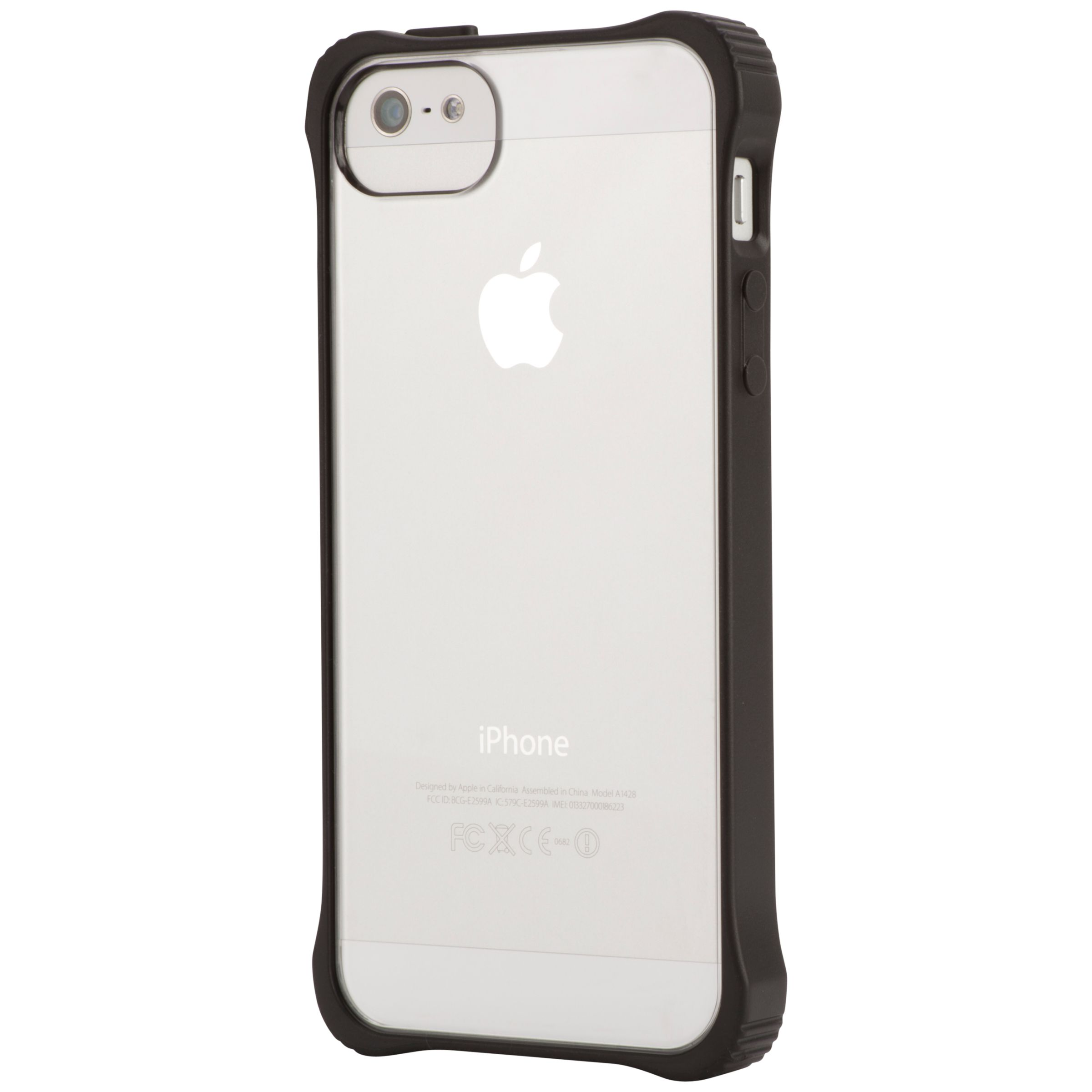 Griffin Griffin Survivor Core Case for iPhone 5 & 5s, Clear back with black bumper