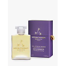 Buy Aromatherapy Associates De-Stress Mind Bath & Shower Oil, 55ml Online at johnlewis.com