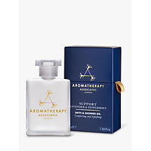 Buy Aromatherapy Associates Support Lavender and Peppermint Bath and Shower Oil, 55ml Online at johnlewis.com