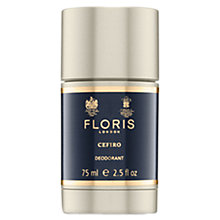 Buy Floris Cefiro Deodorant Stick, 75ml Online at johnlewis.com