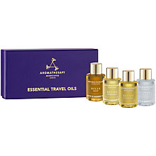 Buy Aromatherapy Associates Essential Travel Oils, 4 x 7.5ml Online at johnlewis.com