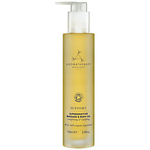 Buy Aromatherapy Associates Support Super Sensitive Massage and Body Oil, 100ml Online at johnlewis.com