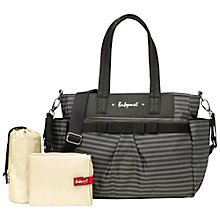 Buy Babymel Cara Changing Bag, Black/Grey Online at johnlewis.com