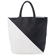 Buy French Connection Libby Tote Bag, Black/Summer White Online at johnlewis.com