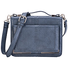 Buy French Connection Ines Cross Body Handbag, Dark Grey Snake Online at johnlewis.com