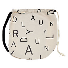 Buy John Lewis Brooklyn Letters Laundry Bag Online at johnlewis.com