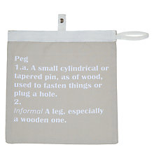 Buy John Lewis Words Peg Bag Online at johnlewis.com