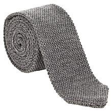 Buy Jigsaw Pique Wool Knitted Tie, Slate Online at johnlewis.com