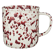 Buy John Lewis Canteen Splash Mug, Cream/Burgundy Online at johnlewis.com