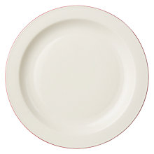 Buy John Lewis Canteen Oxblood Rim Dinner Plate, Natural Online at johnlewis.com