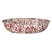 Buy John Lewis Canteen Splash Serve Bowl, Cream/Burgundy Online at johnlewis.com