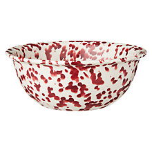 Buy John Lewis Canteen Splash Cereal Bowl, Cream/Burgundy Online at johnlewis.com