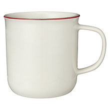 Buy John Lewis Canteen Rim Mug, Cream/Burgundy Online at johnlewis.com