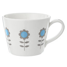 Buy Make International KBJ Flower Mug, Blue Online at johnlewis.com