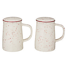 Buy John Lewis Canteen Speckle Salt & Pepper Set, Cream/Burgundy Online at johnlewis.com