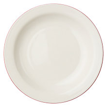 Buy John Lewis Canteen Rim Side Plate, Cream/Burgundy Online at johnlewis.com