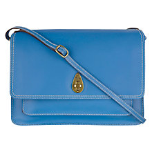 Buy Tula Saddle Originals Flapover Satchel Bag, Blue Online at johnlewis.com