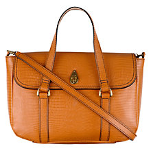 Buy Tula Lizard Medium Leather Grab Bag, Tan Online at johnlewis.com