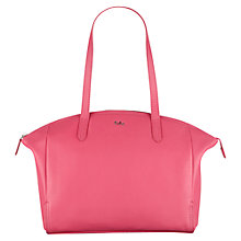 Buy Tula Nappa Original Large Leather Zip Tote Bag, Pink Online at johnlewis.com