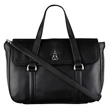 Buy Tula Nappa Originals Medium Flapover Leather Grab Bag, Black Online at johnlewis.com