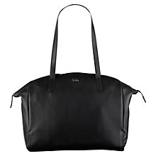 Buy Tula Nappa Original Large Leather Zip Tote Bag, Black Online at johnlewis.com