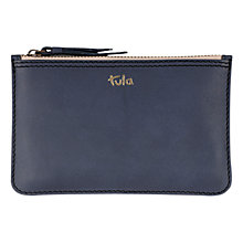 Buy Tula Natural Calf Originals Small Leather Pouch Purse, Navy Online at johnlewis.com