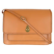 Buy Tula Saddle Originals Leather Satchel Bag, Tan Online at johnlewis.com
