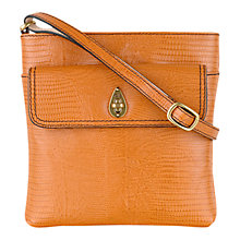 Buy Tula Lizard Medium Leather Across Body Bag, Tan Online at johnlewis.com