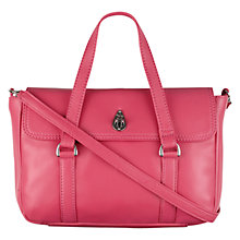Buy Tula Nappa Originals Medium Flapover Leather Grab Bag, Pink Online at johnlewis.com